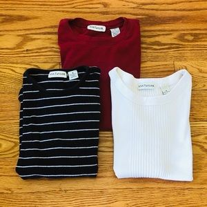3 Ann Taylor Small 100% Cotton T-Shirts